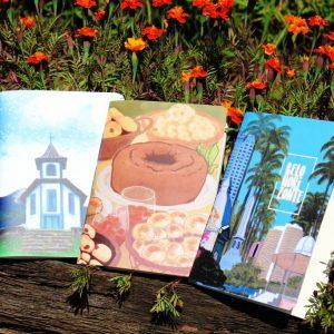 Com ilustrações exclusivas, cadernos artesanais homenageiam Minas Gerais!